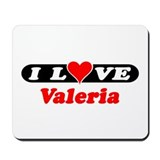 I Love Valeria Mousepad