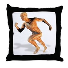 Muscular system Throw Pillow