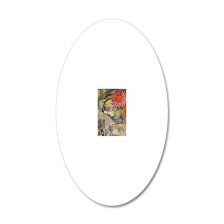 Tribute to Beauty 20x12 Oval Wall Decal