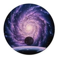 Milky Way galaxy Round Car Magnet