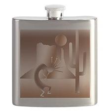 Desert Kokopelli in Bronze Flask
