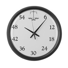 lawyerclock12-3 Large Wall Clock