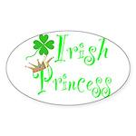 Irish Princess Oval Sticker