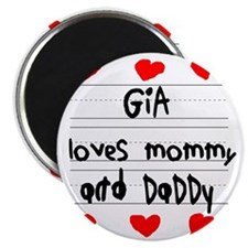 Gia Loves Mommy and Daddy Magnet