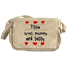 Tisha Loves Mommy and Daddy Messenger Bag