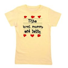 Tisha Loves Mommy and Daddy Girl's Tee