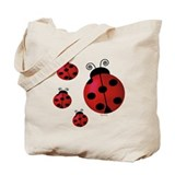 Four ladybugs Tote Bag