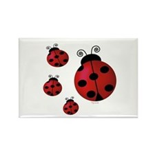 Four ladybugs Rectangle Magnet