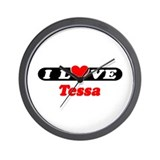 I Love Tessa Wall Clock