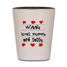 Winnie Loves Mommy and Daddy Shot Glass