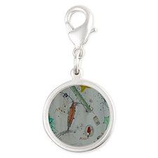 Plankton at Christmas Island Silver Round Charm