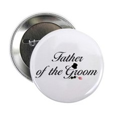 "Black Script Father of Groom 2.25"" Button (100 pac"