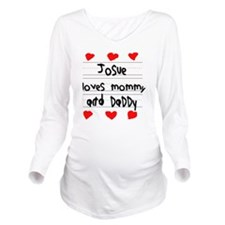 Josue Loves Mommy an Long Sleeve Maternity T-Shirt