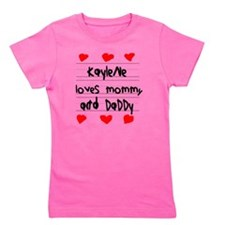 Kaylene Loves Mommy and Daddy Girl's Tee