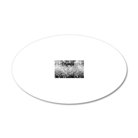 Disco Mirrors in Black and W 20x12 Oval Wall Decal
