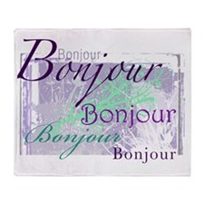 bonjour Throw Blanket