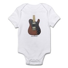 """Edged Black"" Guitar Infant Bodysuit"