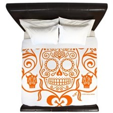 Day of the Dead Sugar Skull King Duvet