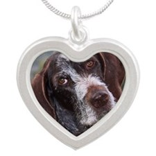 Miss Nellie Silver Heart Necklace