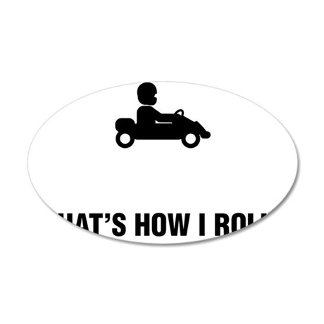 Go-Karting-ABG1 35x21 Oval Wall Decal