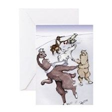 Crack the Whip - Note Card Greeting Card