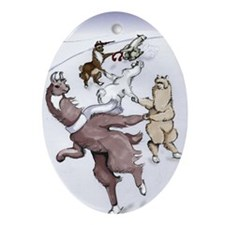 Crack the Whip - Note Card Oval Ornament