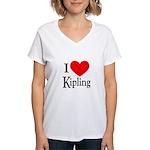 I Love Kipling Women's V-Neck T-Shirt