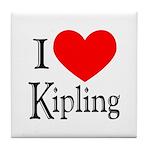 I Love Kipling Tile Coaster