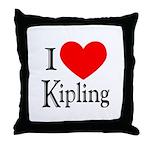 I Love Kipling Throw Pillow