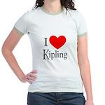 I Love Kipling Jr. Ringer T-Shirt