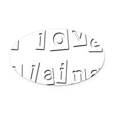 I Love Alaina Oval Car Magnet
