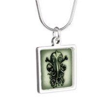 cthulhu-pir2-BUT Silver Square Necklace