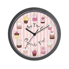 Any Time Is Cupcake Time Wall Clock