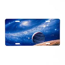 Ring galaxy Aluminum License Plate