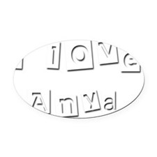 I Love Anya Oval Car Magnet