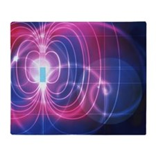 Magnetic field Throw Blanket