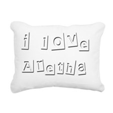 I Love Aretha Rectangular Canvas Pillow