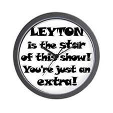 Leyton is the Star Wall Clock