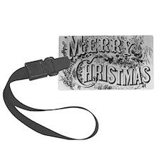 Vintage Christmas Luggage Tag