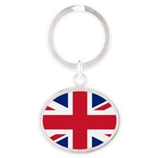 Union Jack Oval Keychain