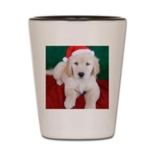 Golden Retriever Puppy Christmas Shot Glass