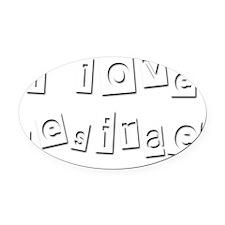 I Love Desirae Oval Car Magnet