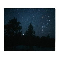 Starfield including Orion, Sirius Throw Blanket