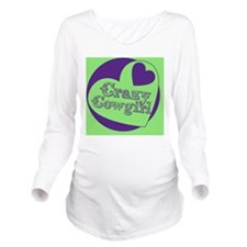 Crazy Cowgirl Long Sleeve Maternity T-Shirt
