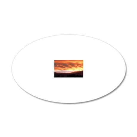 Sunset clouds 20x12 Oval Wall Decal