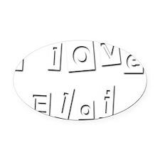 I Love Eloi Oval Car Magnet