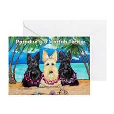 Paradise Scottish Terrier Greeting Card