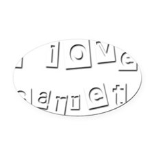 I Love Garret Oval Car Magnet