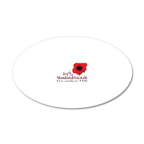 Day Of Remembrance 20x12 Oval Wall Decal