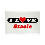 I Love Stacie Rectangle Magnet (10 pack)